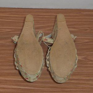Chinese Laundry Shoes - Chinese Laundry retro floral wedge heel sandals